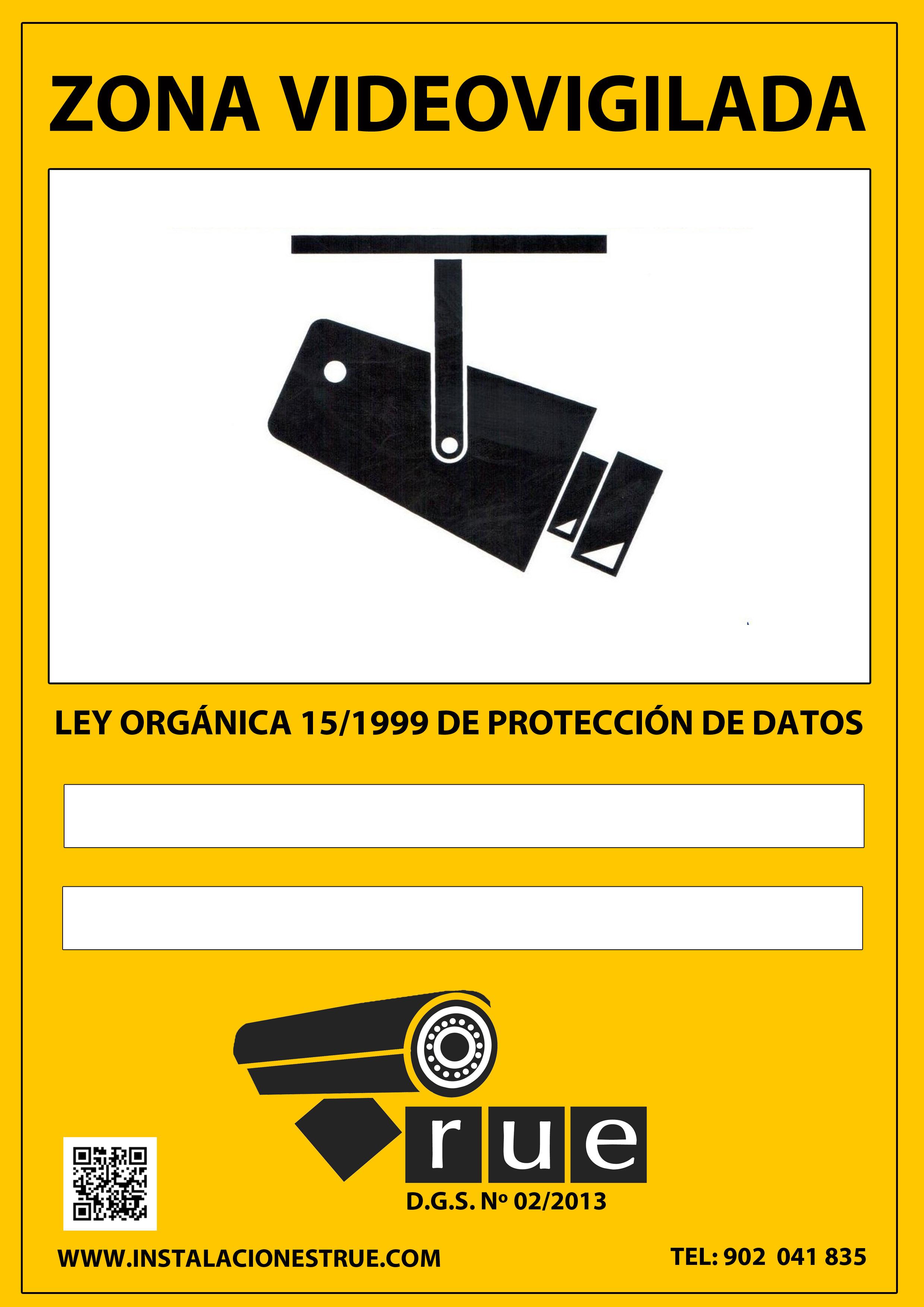 Alarmas y seguridad instalaciones true s l - Cartel zona videovigilada ...